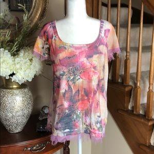 B.L.E.U. Petite small Floral blouse